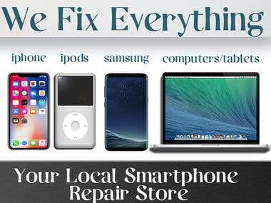 vertical banner for a mobile repairing company