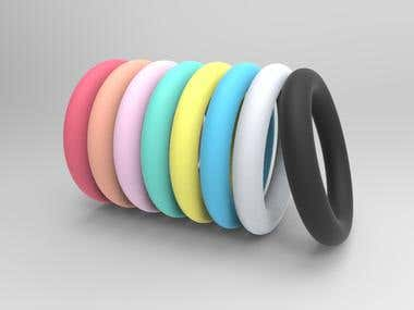 Silicone over-molded ring
