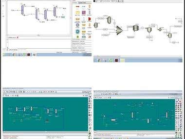 HYSYS, Aspen Plus, unisim and chemcad simulation