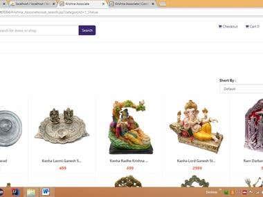 Krishna Associate Online E-commerce for Statue
