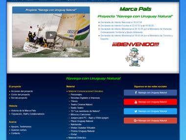 Navega con Uruguay Natural website