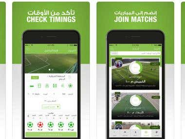 Soccer field App Development for Android ,Ios