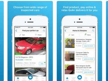 Local Classifieds Mobile app with Advertisement section