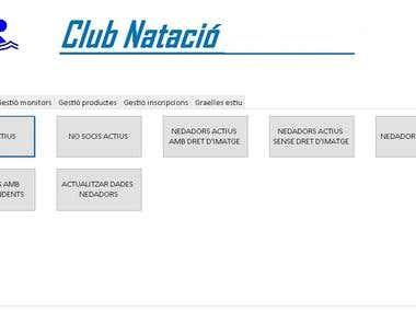 Sports Club Management Program