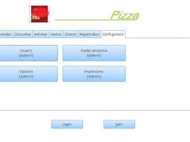 Management program of a pizzeria