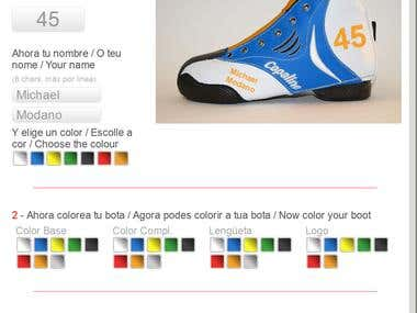 Hockey boot interactive online customizer