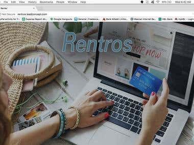 Rentros Marketplace Website