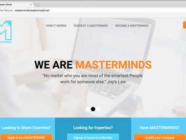 Masterminds Web Application