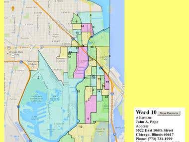 Yellow-Pages-Like Interactive Election Precinct Locatior