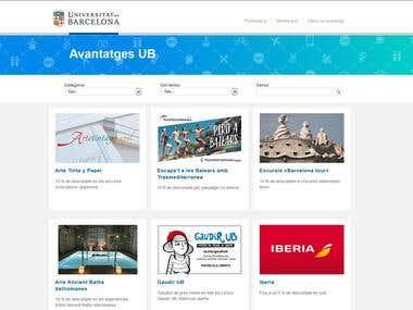 Avantatges UB Website