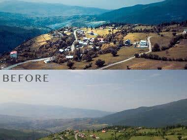Landscape Photo Editing, Color correction