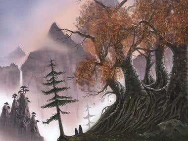 Autumnal Mountain Pass