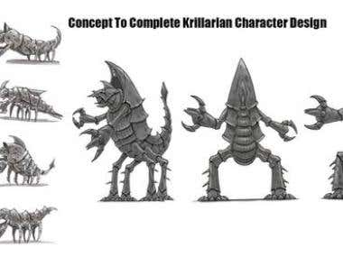 Krillarian Character, Concept to Complete