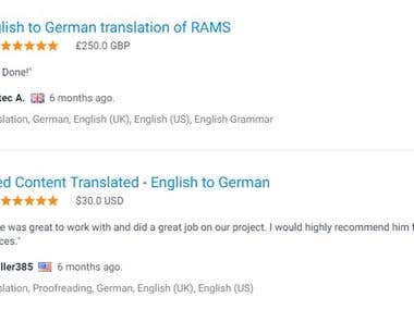 English to German Translation