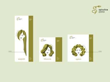 Product Packaging - Spirulina Pasta