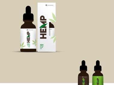 Product Packaging - Hemp Oil