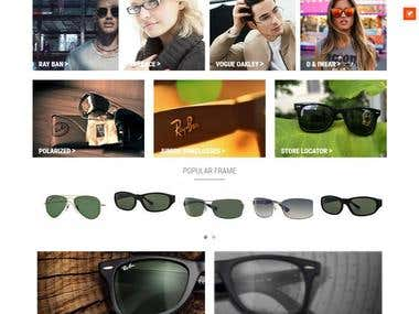 Custom Shopify Optic Eye Wear Store