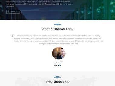 Hosting Services Provider Website