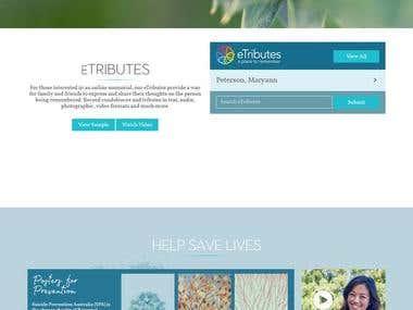 Botanical Funeral Service Based Website