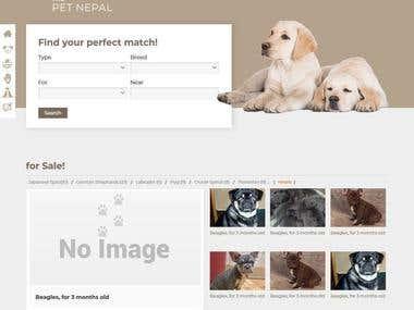 Website for Pet Nepal