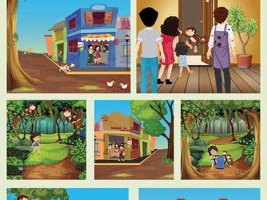 The Monkeys of matheran Story book design
