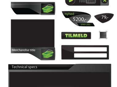 Logo and UI elements
