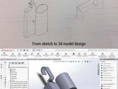 Sketch convert to 3D design