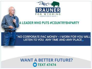 designed a post card for a political candidate