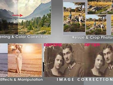 image retouch , color correction, image correction
