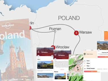 Hybrid Android App( Poland City Guide)