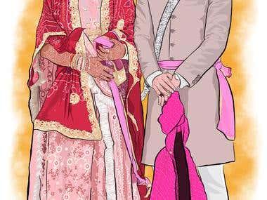 Couple Wedding Portrait