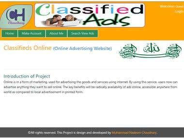 Classified Advertising Website