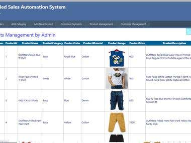 Classified Sales Automation System