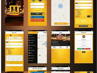 car booking android application