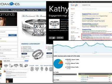 SEO for www.mydiamonds.com.au, online shopping site.