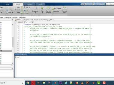 MATLAB TSP using ACO , GA, NN Algorithm