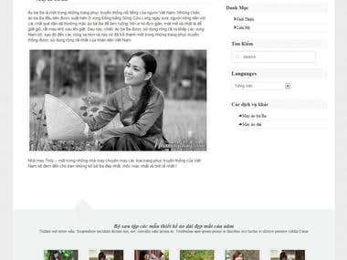 Coded a Wordpress site for Thuy tailor