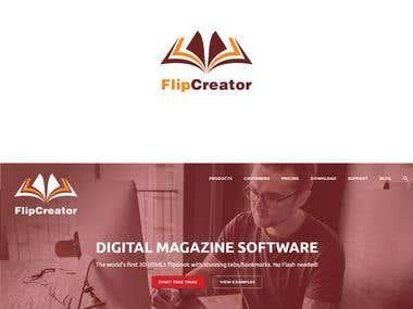 Flip Creator- Web Design