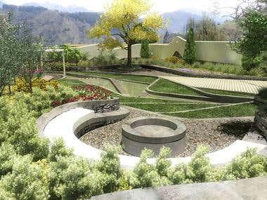 landscape for a mountain villa