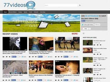 77videos.com A complete video sharing website.