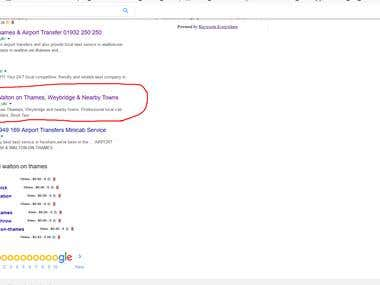 Taxi Service Niche On google First page