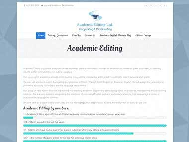 Academic editing company website