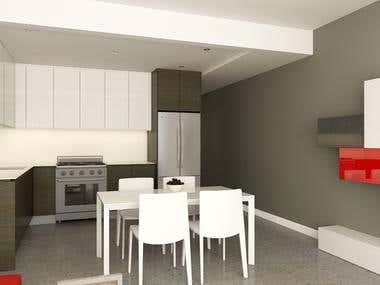 3D Kitchen Render