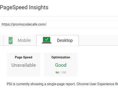 Speed optimization - Google Page Speed Insight 94%