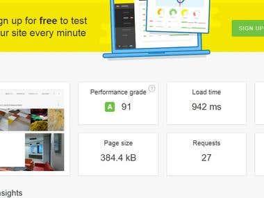 Website Speed Optimize - Pingdom Grade-A Score-91