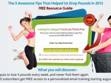 Landing Page For Weight Lose