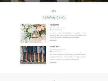 Single page wedding website