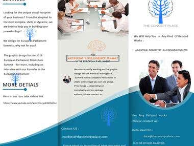 Simple brochure for company