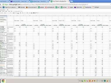 Daily Data Entry (copy website data to excel) - repost