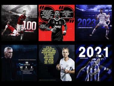 social media designs - sports